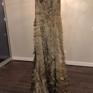 Morel Maxie Gold Evening Gown